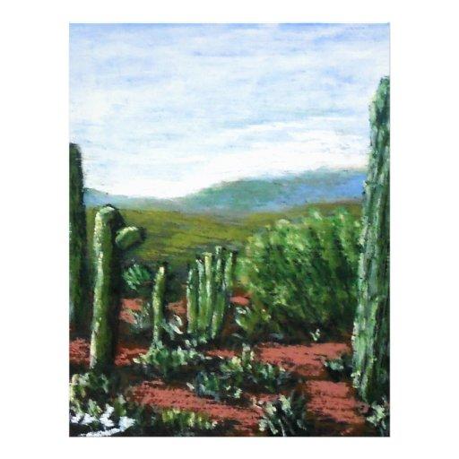 Cactus de Arizona Membrete