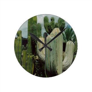 Cactus de Arizona Reloj Redondo Mediano