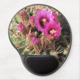 Cactus de barril de la lengua del diablo florecien alfombrillas de ratón con gel