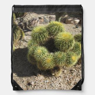 Cactus de barril de oro mochilas