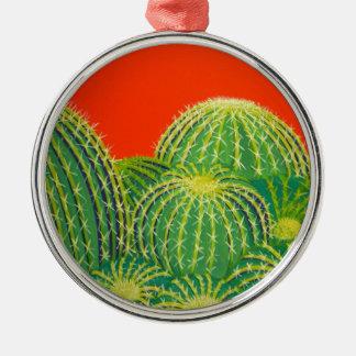 Cactus de barril adorno de navidad
