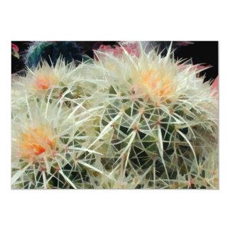 """Cactus de barril espinoso invitación 5"""" x 7"""""""