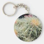 Cactus de barril espinoso llavero personalizado