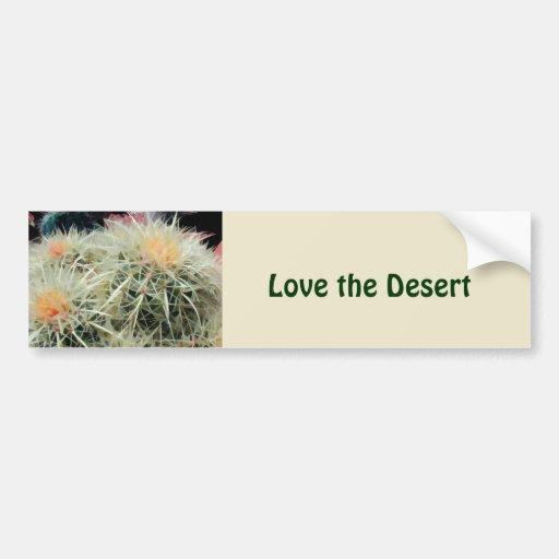 Cactus de barril espinoso pegatina de parachoque
