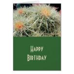 Cactus de barril espinoso tarjetón