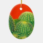 Cactus de barril ornamentos para reyes magos