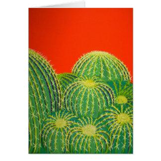Cactus de barril tarjeta pequeña