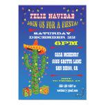 """Cactus de Feliz Navidad con el sombrero Invitación 5"""" X 7"""""""