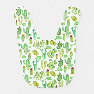 cactus de la acuarela baberos para bebé