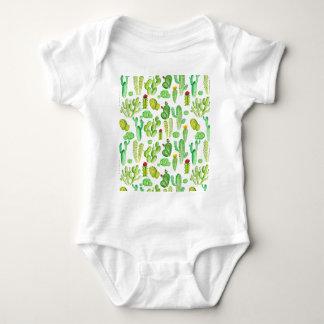 cactus de la acuarela body para bebé
