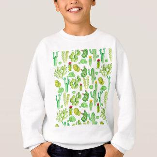 cactus de la acuarela sudadera