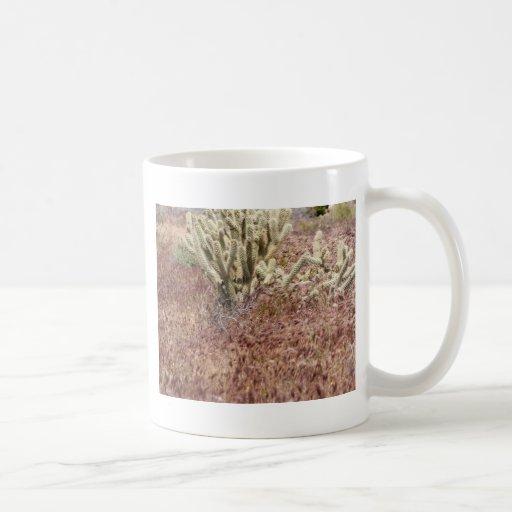 Cactus de la asta taza