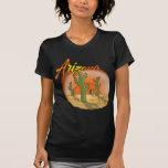 Cactus de la puesta del sol de ARIZONA Camisetas