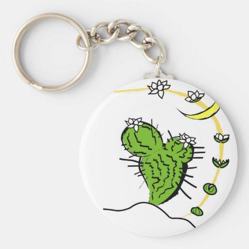 Cactus de Luna Llavero Redondo Tipo Pin