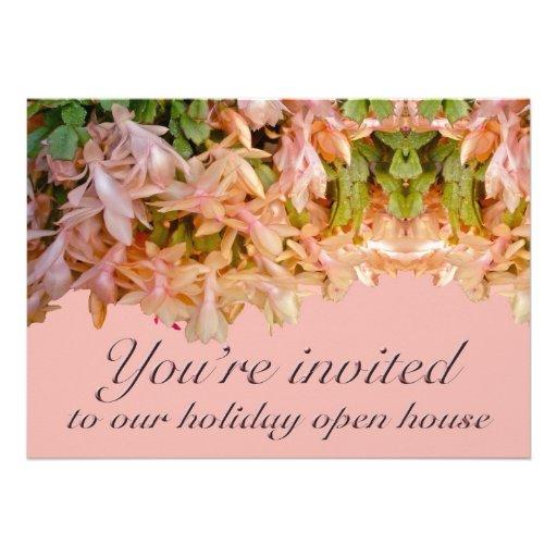 Cactus de navidad de la casa abierta del día de fi comunicado personalizado