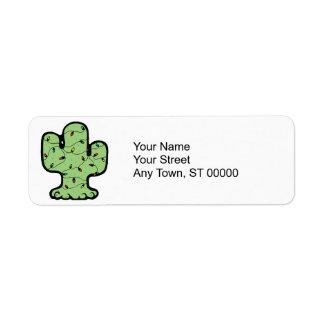 cactus de navidad etiqueta de remite