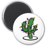 Cactus de navidad imán de frigorífico