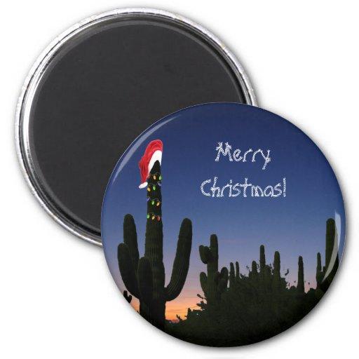 Cactus de navidad imán para frigorífico