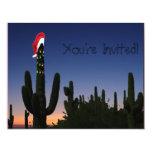 Cactus de navidad invitación 10,8 x 13,9 cm