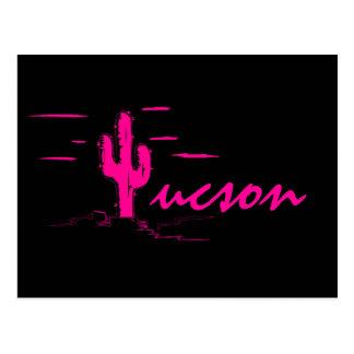 Cactus de neón del Saguaro de las noches del Tarjeta Postal