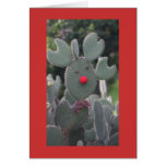 Cactus de Rudolph Felicitación