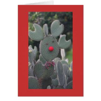 Cactus de Rudolph Tarjeta De Felicitación