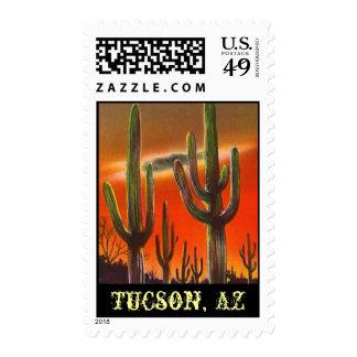 Cactus de Saguarro del Saguaro que iguala los Estampillas