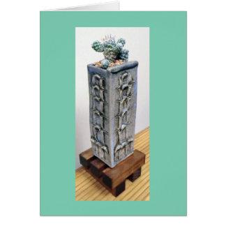 Cactus del dedal en pote por la planta perfecta tarjeta de felicitación