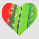Cactus del desierto pegatina de corazón personalizadas
