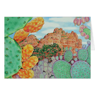Cactus del desierto tarjeta de felicitación