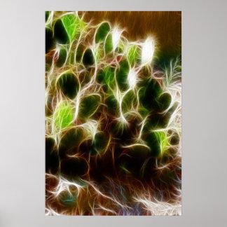 Cactus del higo chumbo del cartel poster