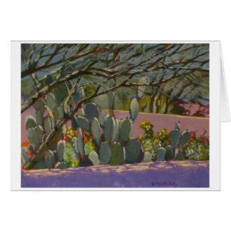 Cactus del jardín del desierto tarjeta pequeña