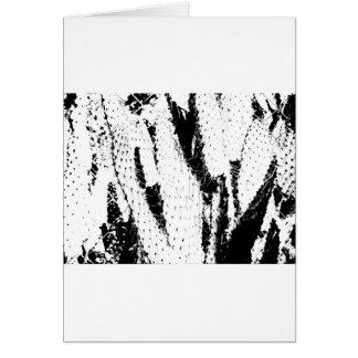 Cactus del oído de elefante en blanco y negro tarjeta