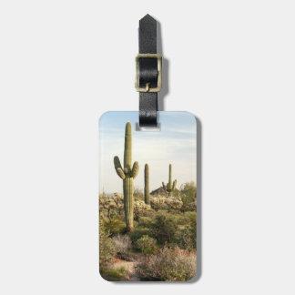 Cactus del Saguaro, Arizona, los E.E.U.U. Etiquetas Maleta