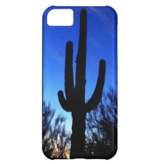 Cactus del Saguaro de Arizona en el caso fresco de