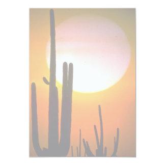 """Cactus del Saguaro, desierto de Sonoran, desierto Invitación 5"""" X 7"""""""