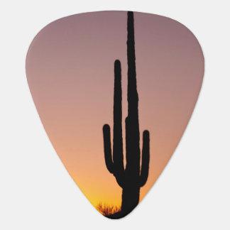 Cactus del Saguaro en la puesta del sol Púa De Guitarra
