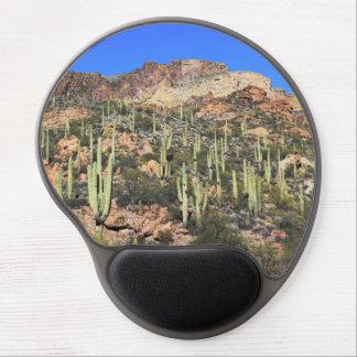 Cactus del Saguaro - rastro Mousepad de Arizona Alfombrilla De Ratón Con Gel