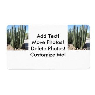 Cactus del tubo de órgano etiqueta de envío