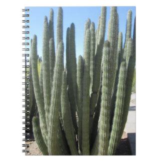 Cactus del tubo de órgano libretas espirales