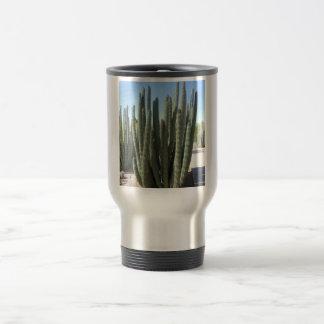 Cactus del tubo de órgano taza de viaje de acero inoxidable