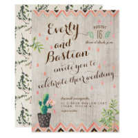 Cactus Desert Wedding Invitations