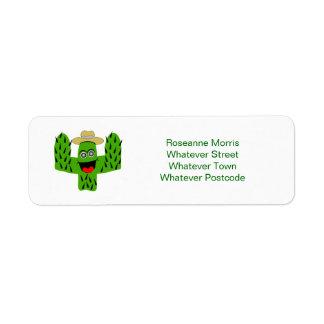 Cactus Design Label