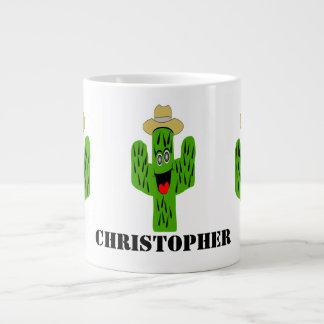 Cactus Design Personalized Large Coffee Mug