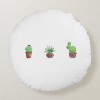 Cactus Design Round Throw Pillow