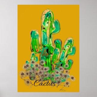 Cactus Digital Art Poster