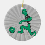 cactus divertido que juega a fútbol