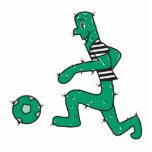 cactus divertido que juega a fútbol esculturas fotograficas