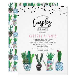 Cactus & Dots | Couples Shower | Invitation