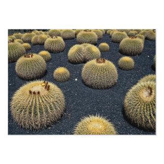 Cactus, echinocactus grusonii personalized invitations